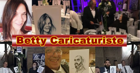 Betty Caricatures Portraits Animations